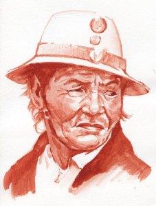 Dragon's blood watercolor sketch
