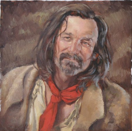 Mountain Man Necktie - oil painting