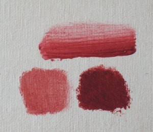 madder lake swatches